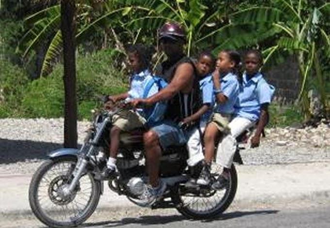 Prohiben el traslado de niños menores de cinco años en motos