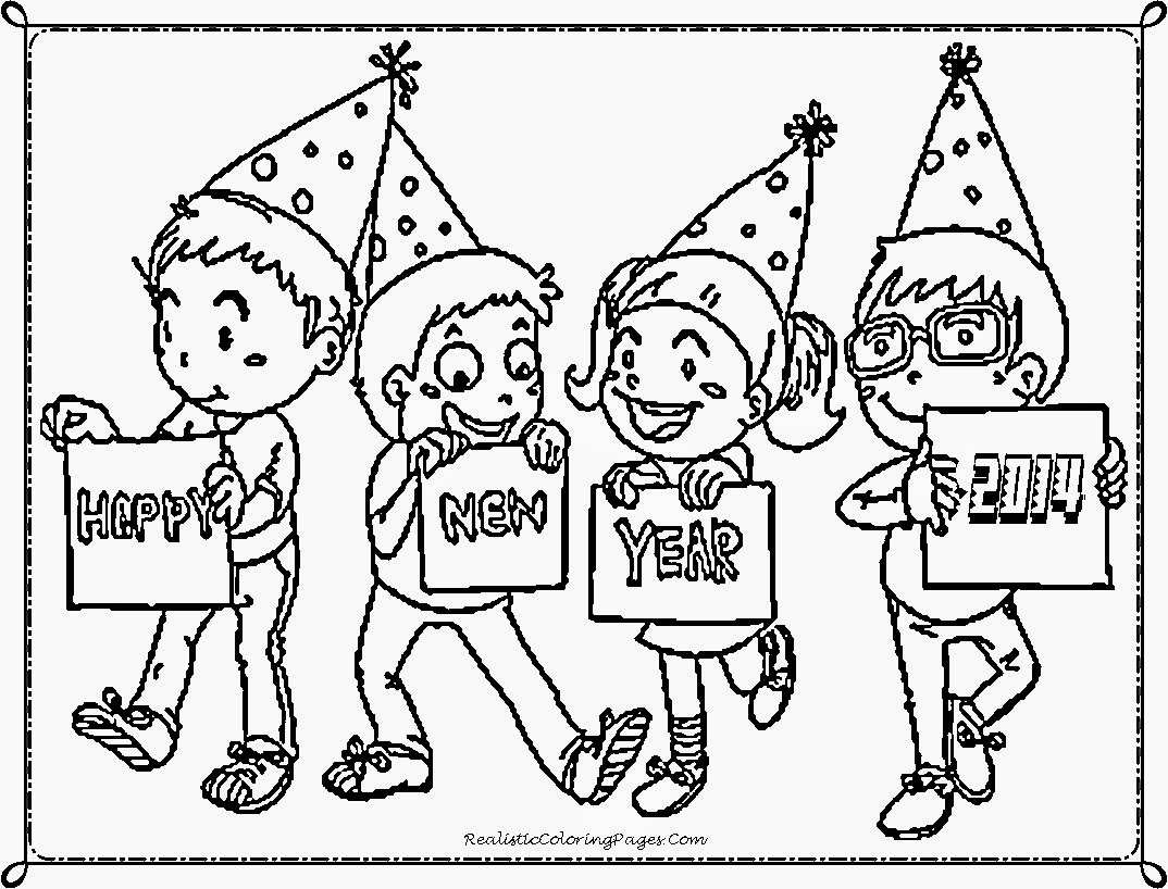 new years childrens coloring pages - photo#6