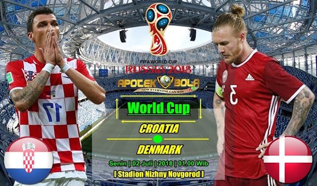 Prediksi Croatia vs Denmark 02 Juli 2018
