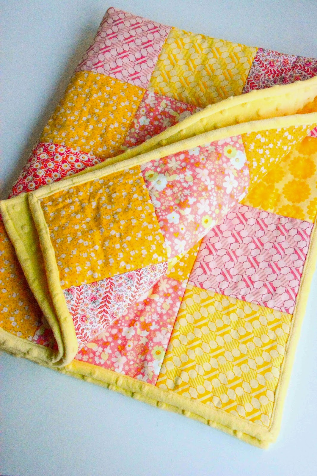 Aesthetic Nest Sewing Minky Backed Baby Quilt For Weallsew
