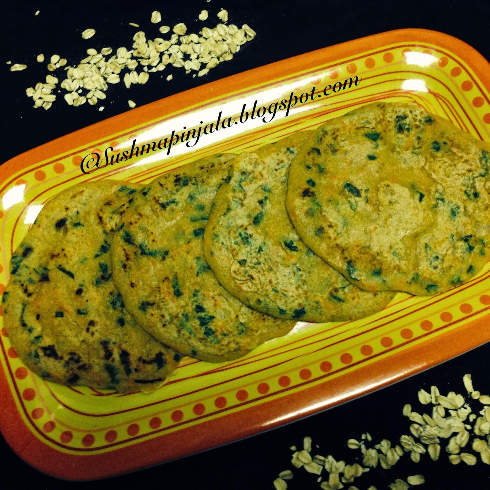 Oats Pancake / Oats uttapam