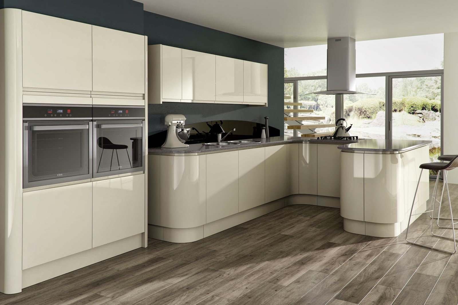 Gloss Kitchen Cupboards Va Matte