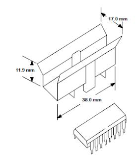 Disipador de calor para el L293 aspecto físico.