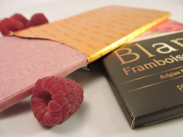 Tablette chocolat blanc et framboise Galler