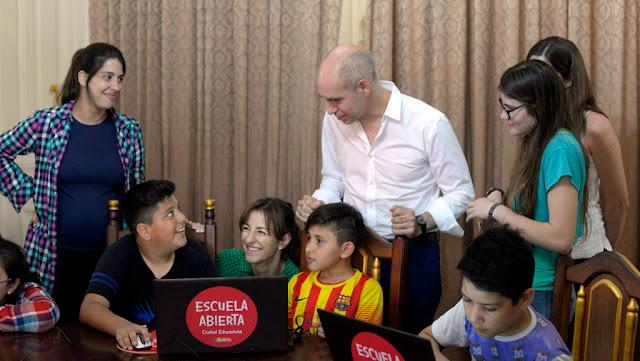 """Rodríguez Larreta junto a alumnos de Elegí Enseñar; """"Esto es parte del cambio en el sistema educativo en la ciudad"""""""