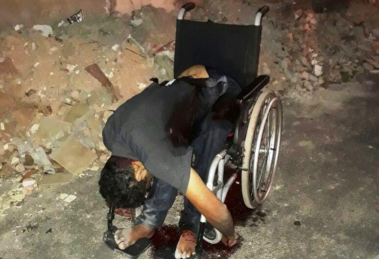 Cadeirante é executado á tiros