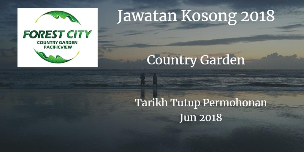 Jawatan Kosong COUNTRY GARDEN Jun 2018