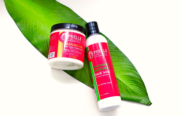 Review & Demo: Mielle Organics Babassu Oil Mint Deep Conditioner and Moisturizing Avocado Hair Milk