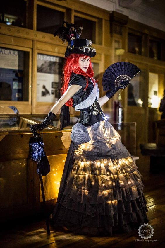 Steampunk Fashion Guide: Steampunk Style Tip: Glow in the Dark with LED String Lights