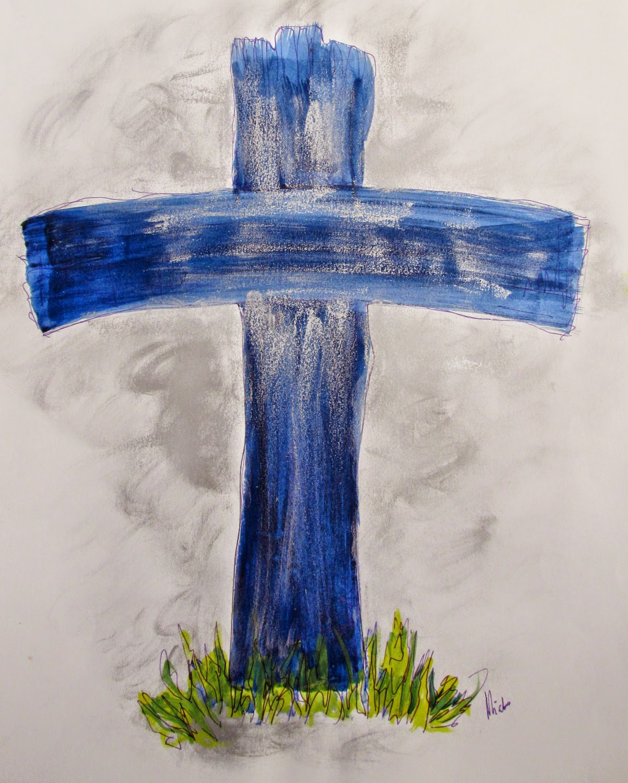 Artmiabo AN ILLUSTRATION OF THE OLD RUGGED CROSS BY MIABO ENYADIKE