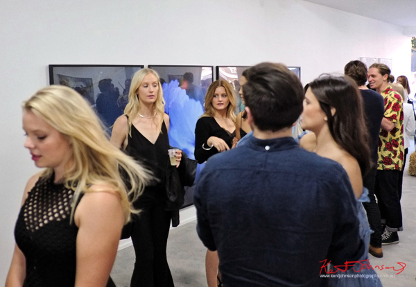 An elegant art crowd. COMA Gallery & Art Opening - Photographed by Kent Johnson for Street Fashion Sydney.