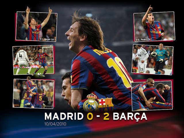 free desktop wallpapers 1024x768 download Real Madrid Barcelona Lionel Messi and Pedro Rodriguez