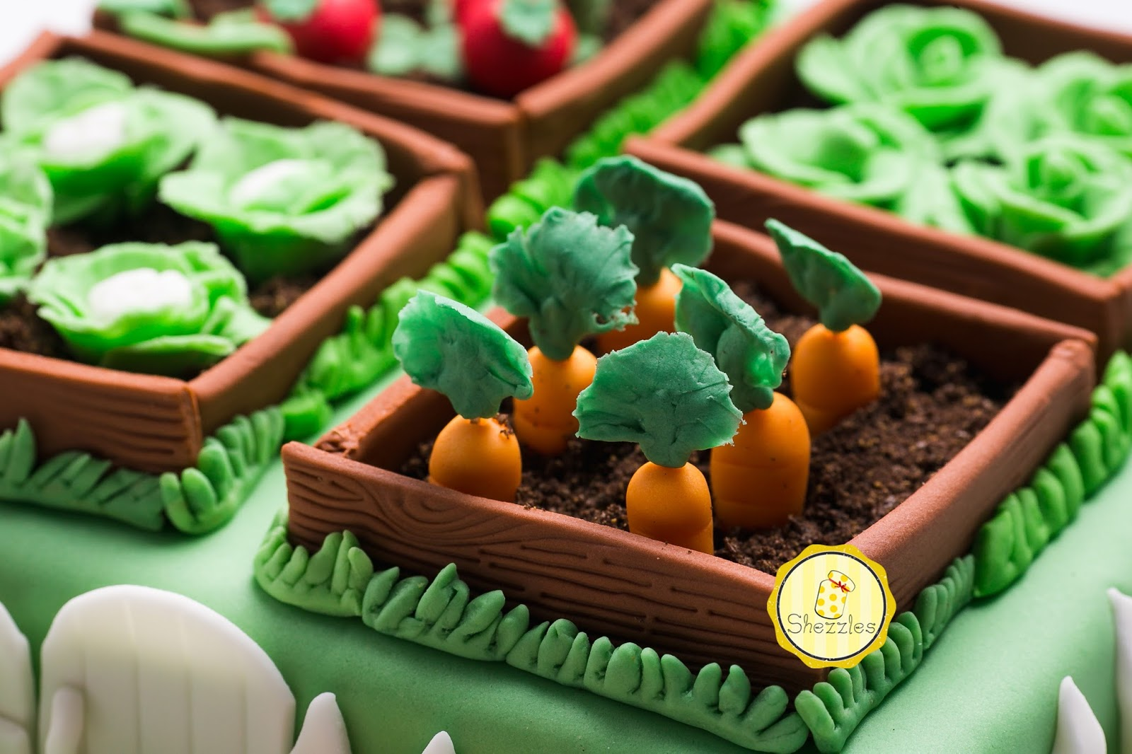 Shezzles   Dessert in a jar: Vegetable Garden Cake