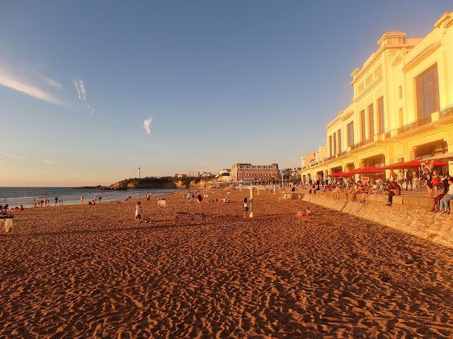 bästa stranden i Biarritz