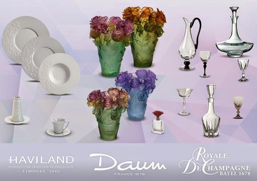 Daum, Haviland et Royale de Champagne