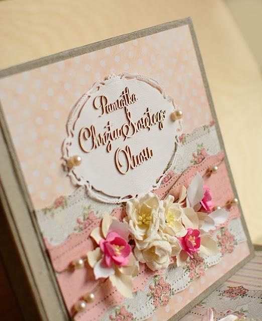 album na zdjecia, pamiątka chrztu świętego, prezent na chrzest, prezent od matki chrzestnej