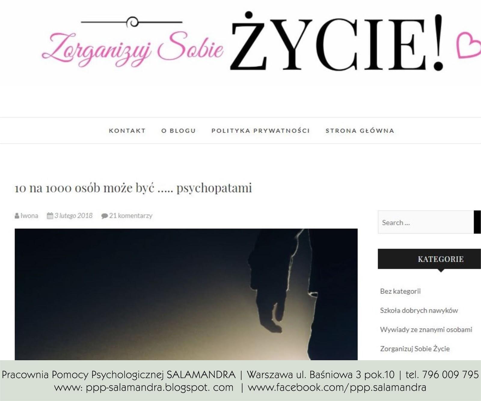 Dobry psycholog Warszawa w wywiadzie o tym, że 10 na 1000 osób może być psychopatami