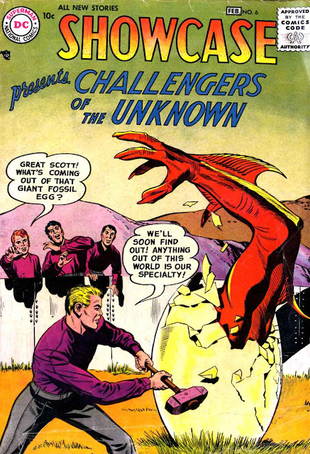 Showcase v1 #6, 1957 DC silver age comic book cover by Jack Kirby - 1st Challengers of the Unknown