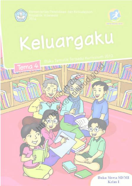Download Buku Kurikulum 2013 SD Kelas 1 Tema 4, Keluargaku