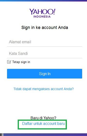 Buat Email Yahoo Terbaru Cara Daftar Akun Ymail Di Yahoo Mail Indonesia Materi Belajar