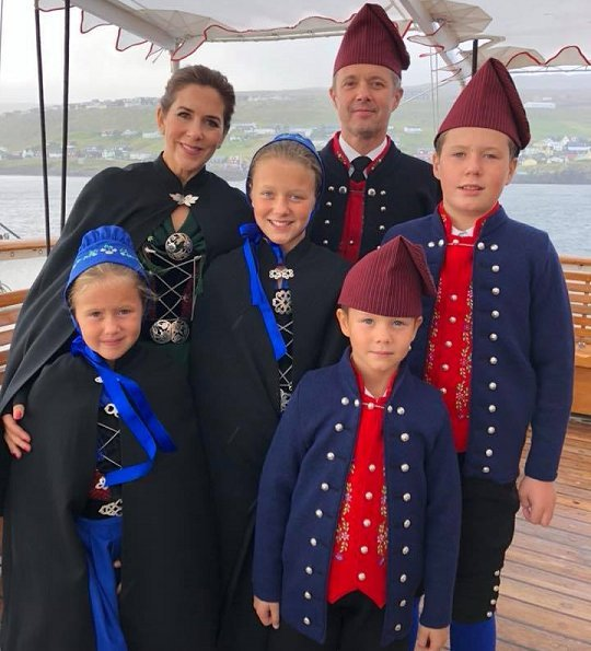 Crown Prince Frederik, Crown Princess Mary, Prince Christian, Princess Isabella, Prince Vincent and Princess Josephine visited Faroe Islands