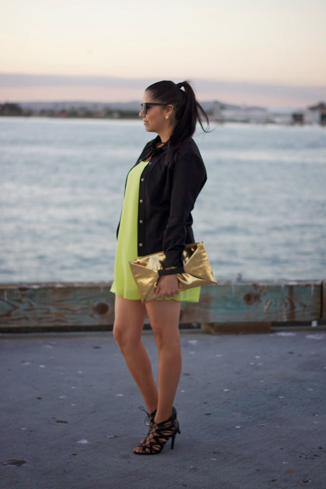 neon yellow lulus dress