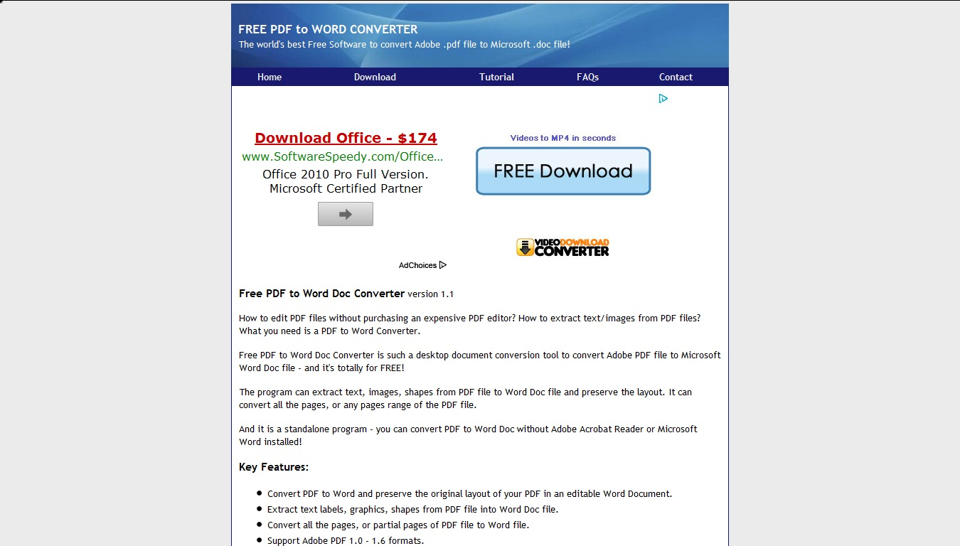 Word Doc To PDF Converter Software Free Download