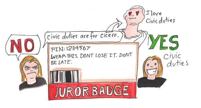 Seize the Absurd: Jury duty was unexpectedly cool. Part 3