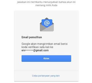 Memulihkan email dengan alamat email