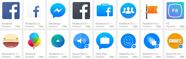 Facebook Apps in Play Store