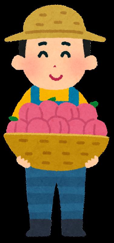 いろいろな果物農家の人のイラスト | かわいいフリー素材集 いらすとや