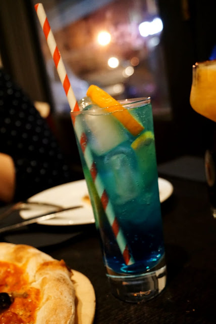 Cocktails at bar and lounge at OBIA restaurant in Purley