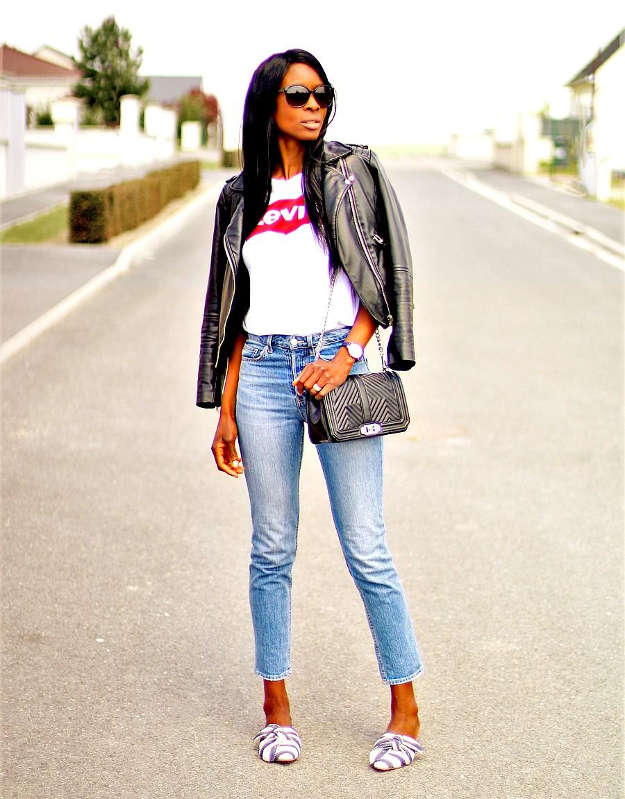 look-tendance-blogs-printemps-perfecto-mules-jeans-taille-haute