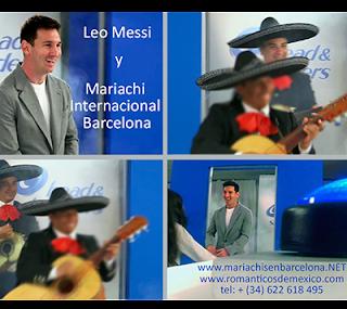 Mariachi con Leo Messi en Barcelona