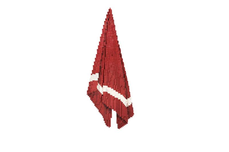 towel made of lego bricks