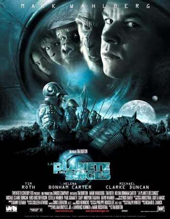 Poster Of Planet of the Apes 2001 Dual Audio 450MB BRRip 720p ESubs HEVC Free Download Watch Online downloadhub.in