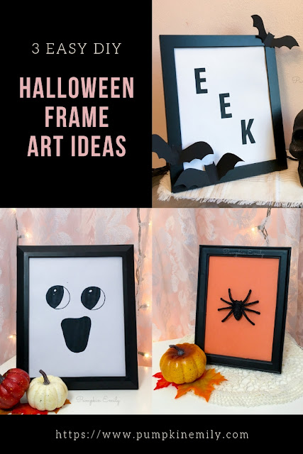3 Easy DIY Halloween Frame Art Ideas
