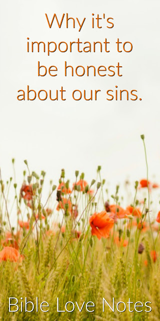 Why it's important to be honest about our sins