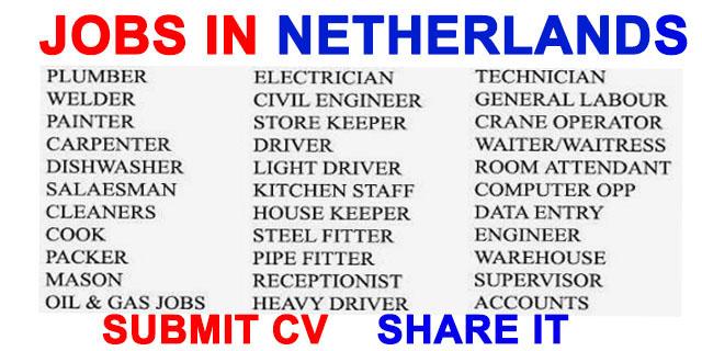 jobs in netherlands job vacancy. Black Bedroom Furniture Sets. Home Design Ideas