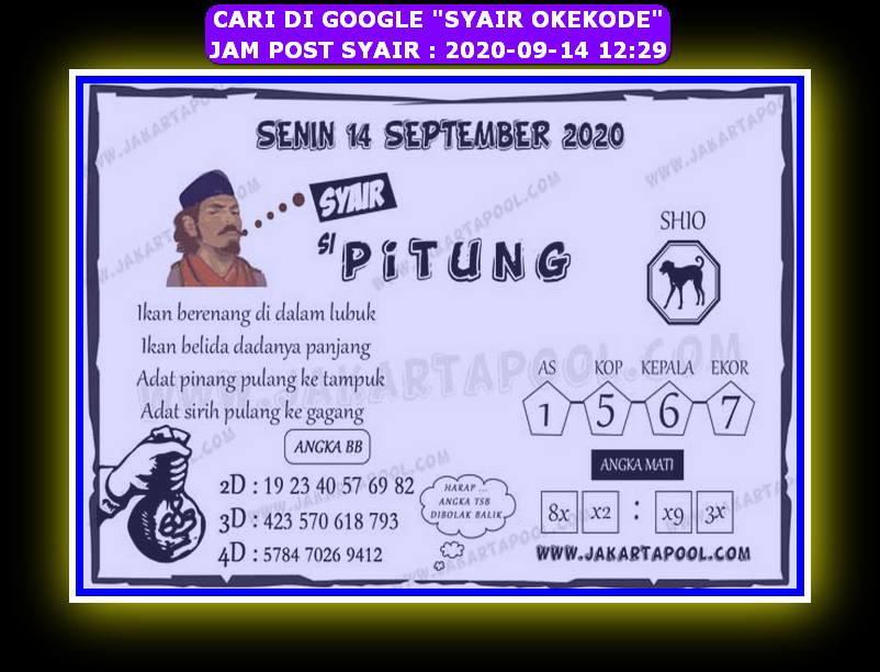 Kode syair Hongkong Senin 14 September 2020 308