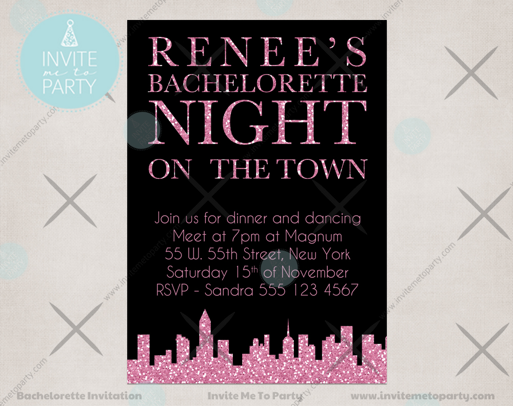 Invite Me To Party: City Bachelorette Party Invitation