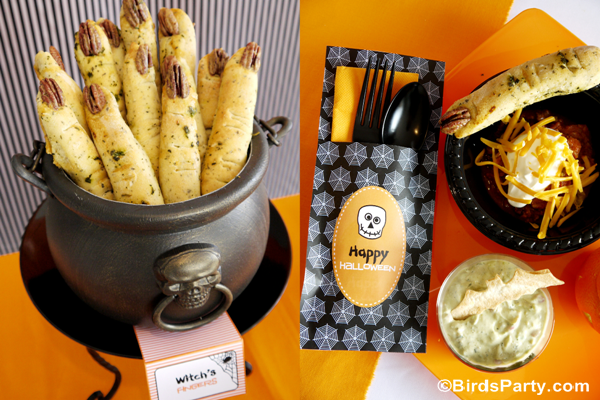 Halloween Witch's Fingers Break Sticks Recipe - BirdsParty.com