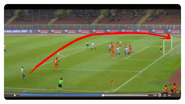 Video: Jaringan Cantik Nazrin Nawi Freekick Taraf World Class vs PKNS FC, Calon PUSKAS?