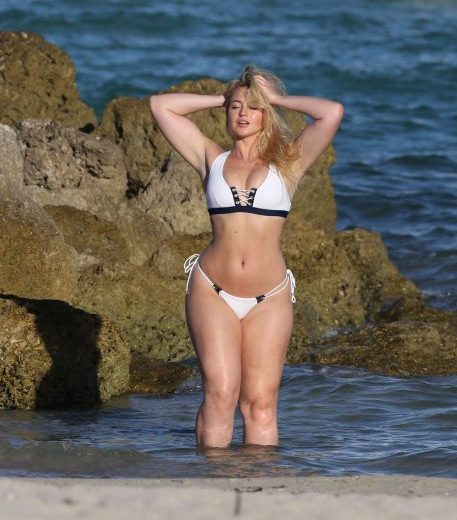 Iskra Lawrence Bikini Photoshoot in Miami