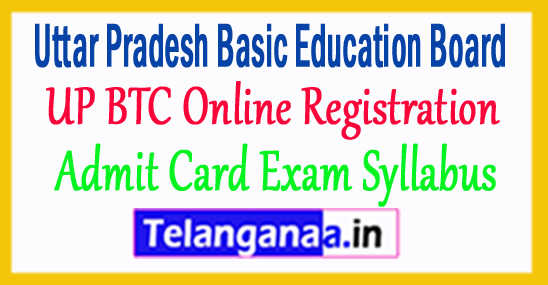 UP BTC Online Registration Form 2018 Admit Card Exam Syllabus