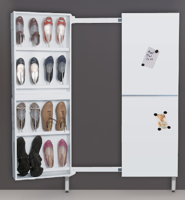 slim space-saving shoe cabinet