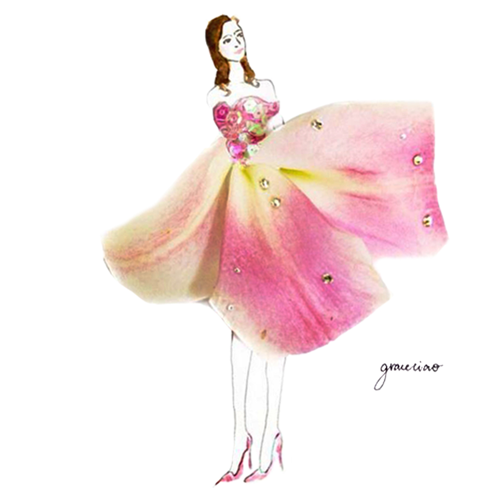 19-Pink-Lily-Nature-and-Grace-Ciao-Design-and-Draw-Dresses-with-Petals-www-designstack-co