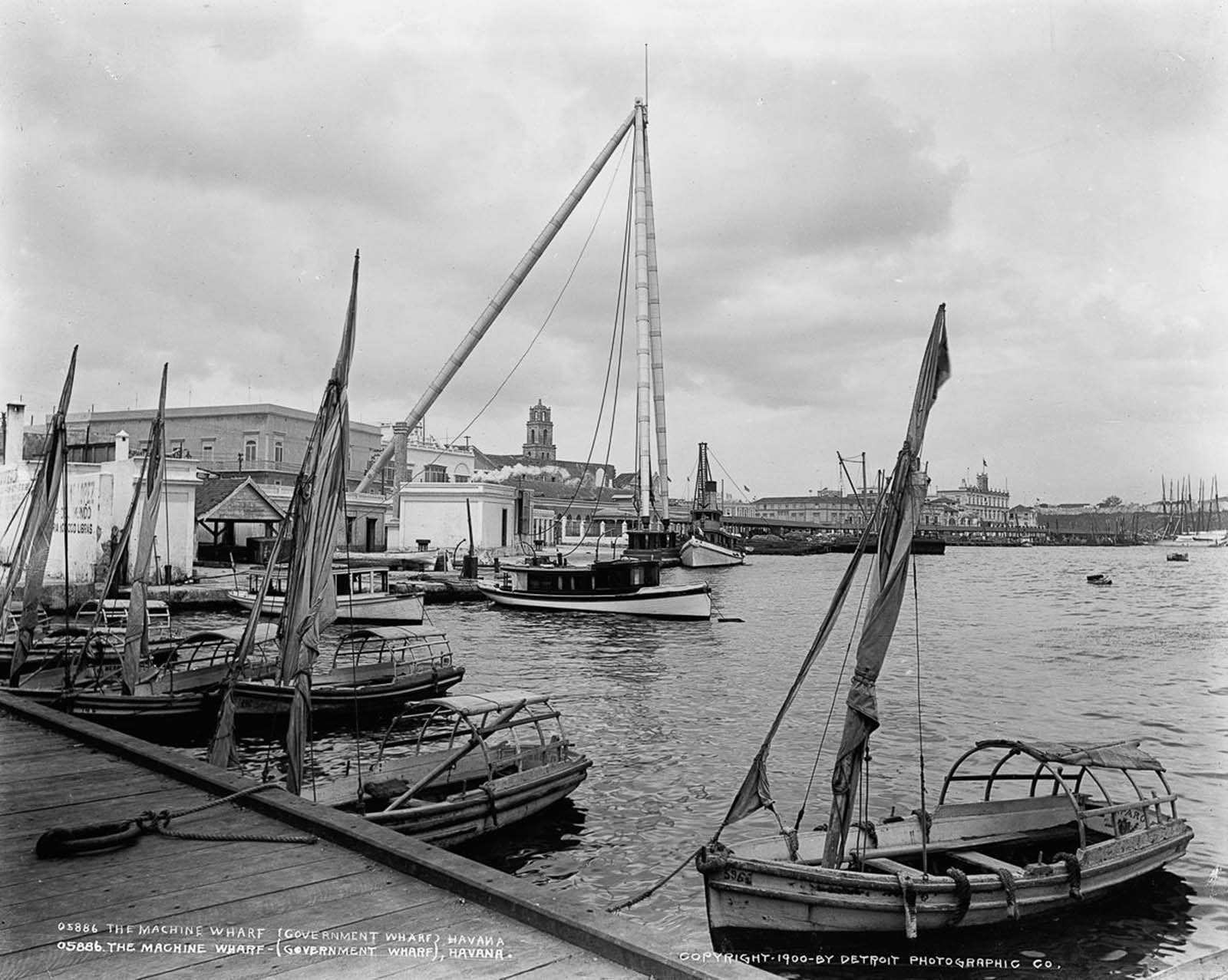 The machine wharf, 1900.