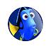 Dory (Procurando Nemo) - Botton (#PN001) - 3,8 cm