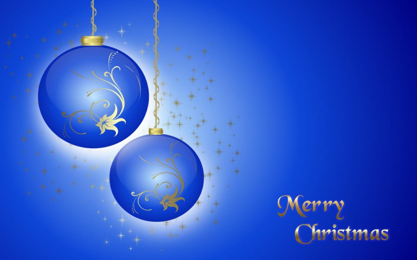 Fondo De Pantalla Abstracto Bolas Azules: Wallpapernarium: Fondo De Pantalla De Dos Bolas De Navidad